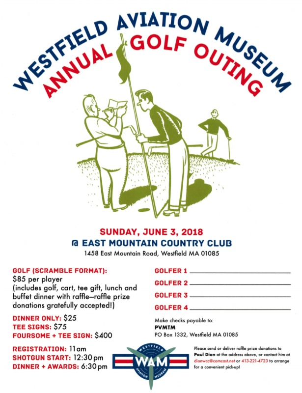 Westfield Aviation Museum Annual Golf Outing